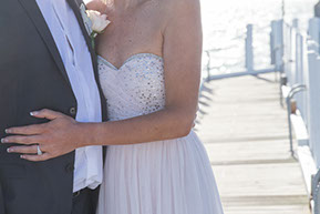 Wedding Photography in Mornington Peninsula. Detail of the bride and the groom © Erika's Way Photography